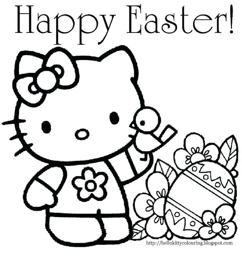 Cute Baby Easter Bunny Coloring Pages
