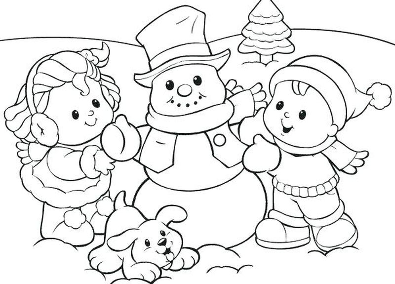 Cute Christmas Snowman Coloring Pages