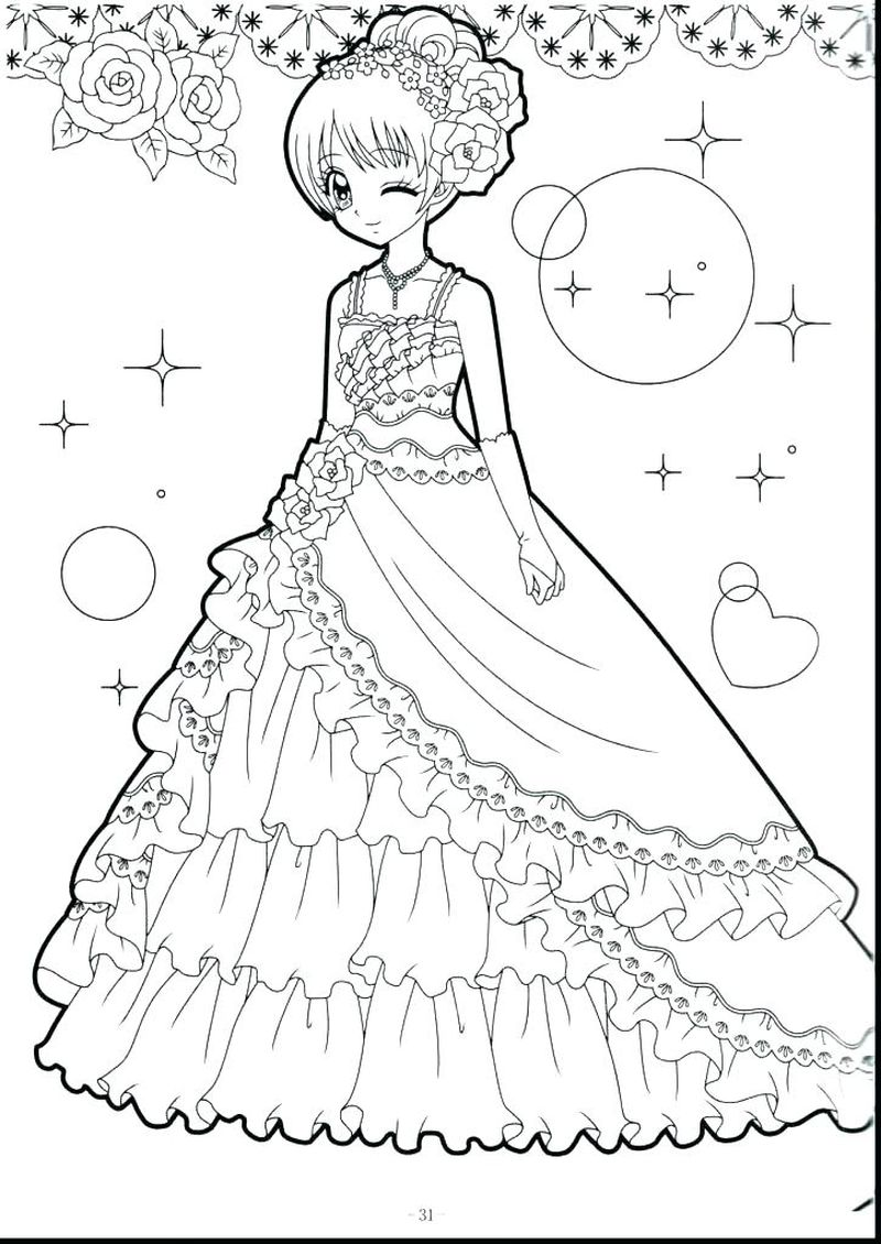 Cute Chubby Anime Girl Coloring Pages