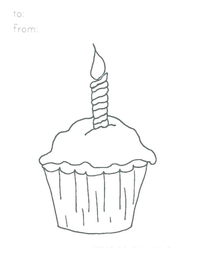 Cute Cupcake Face Coloring Pages