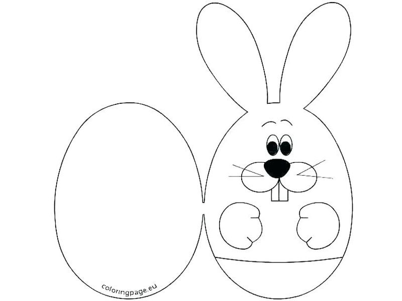Cute Easter Bunny Coloring Pages Printable
