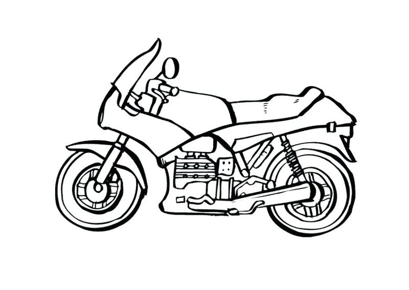 Cute Motorcycle Coloring Pages
