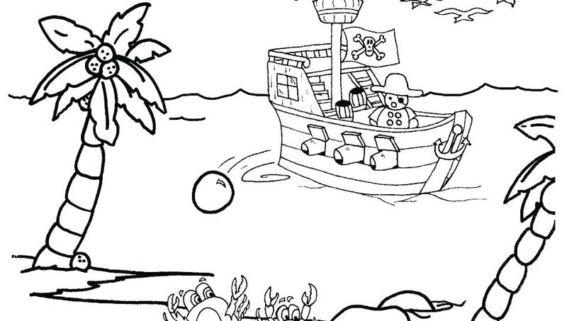 Cute Pirate Coloring Pages