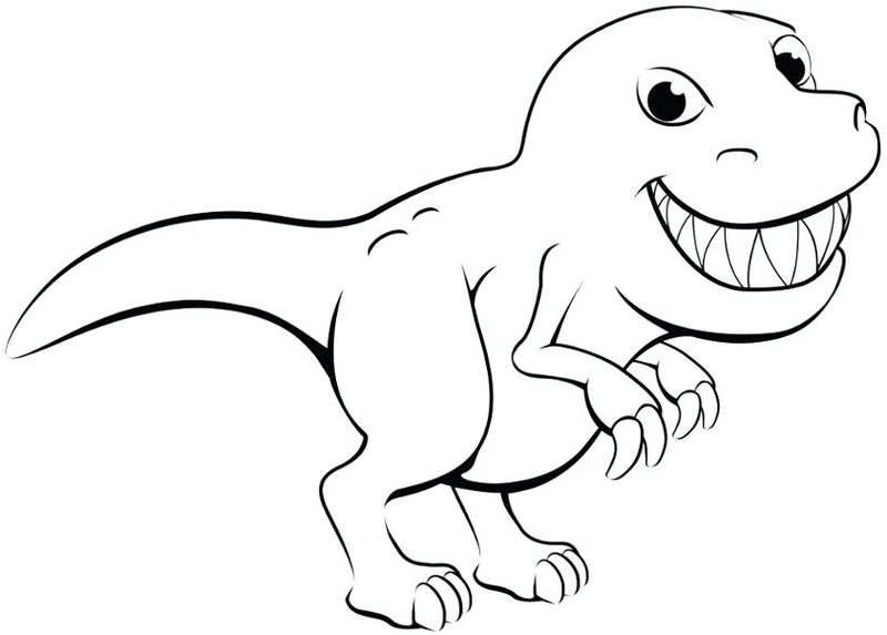 D Is For Dinosaur Coloring Pages