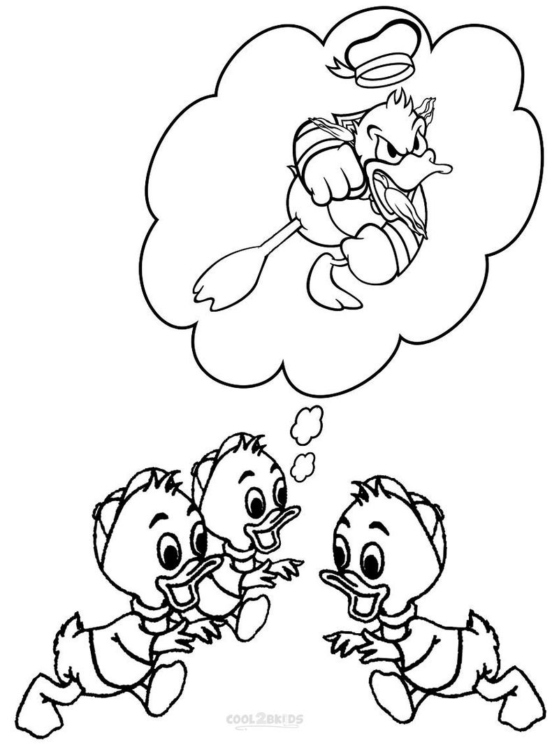 D Is For Duck Coloring Page