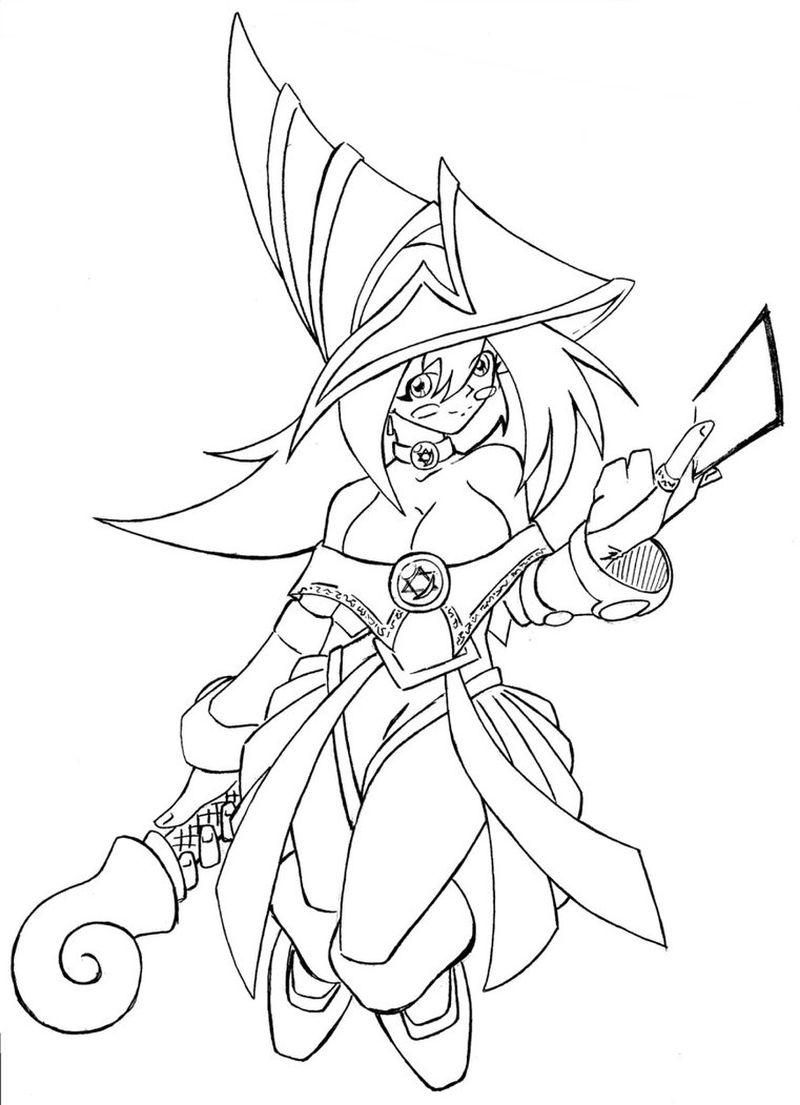 Dark Magician Coloring Pages free