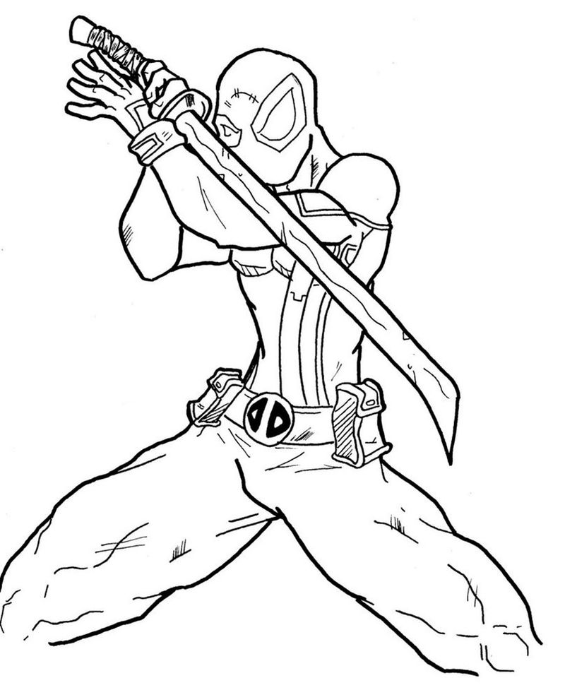 Deadpool 2 Coloring Pages