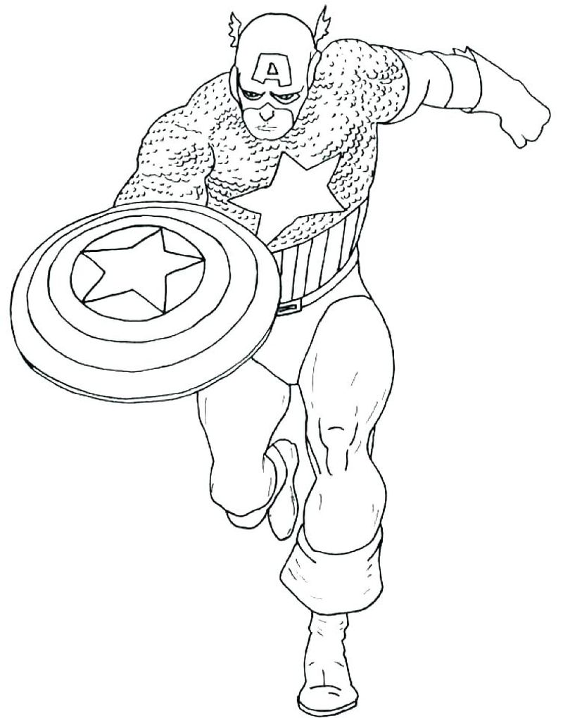 Deadpool Coloring Pages Captain America