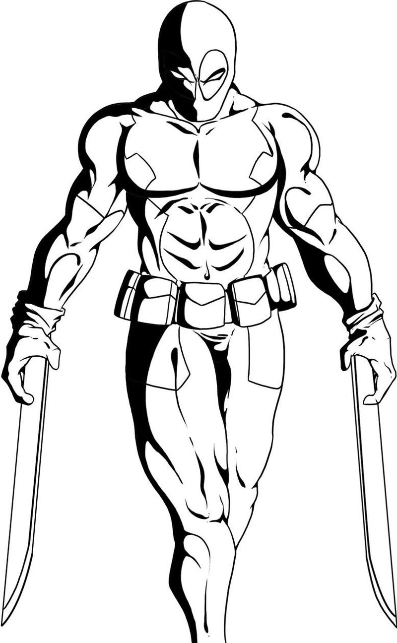 Deadpool Coloring Pages Printable00