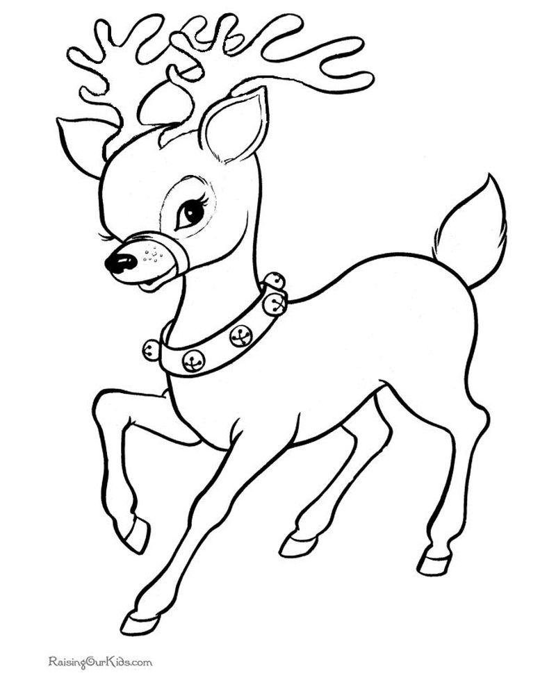 Deer Coloring Pages 2d