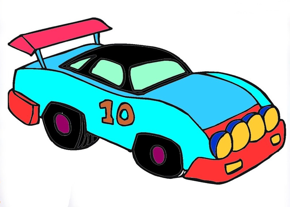 Detailed Race Car Coloring Pages