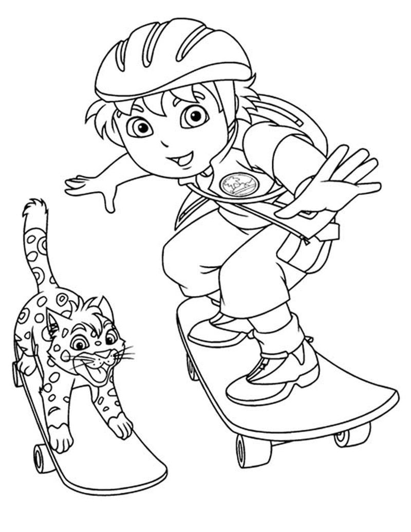 Diago Coloring Pages