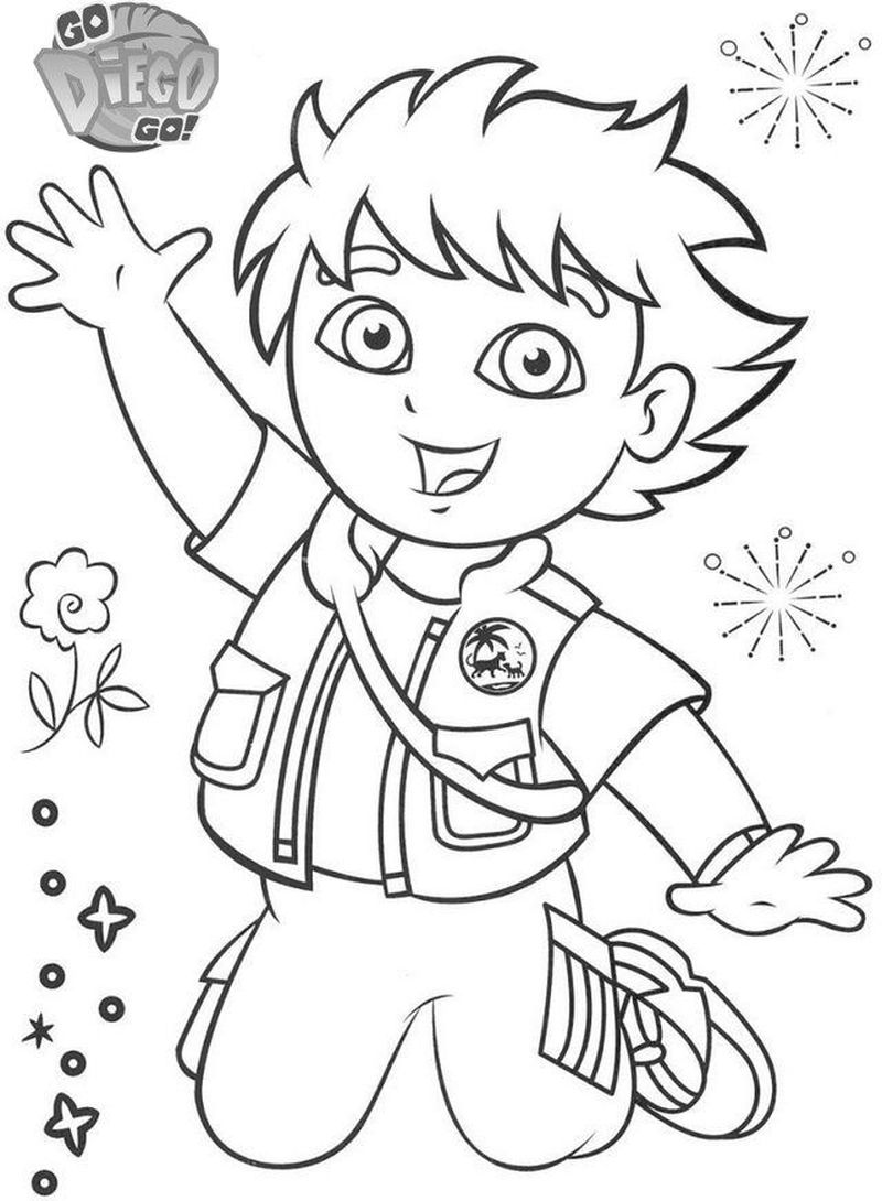 Diego Coloring Pages Easy