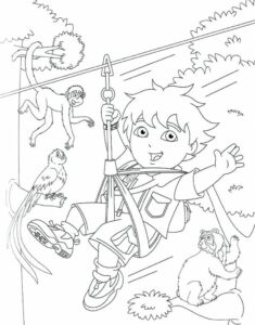 Diego Coloring Pages Free