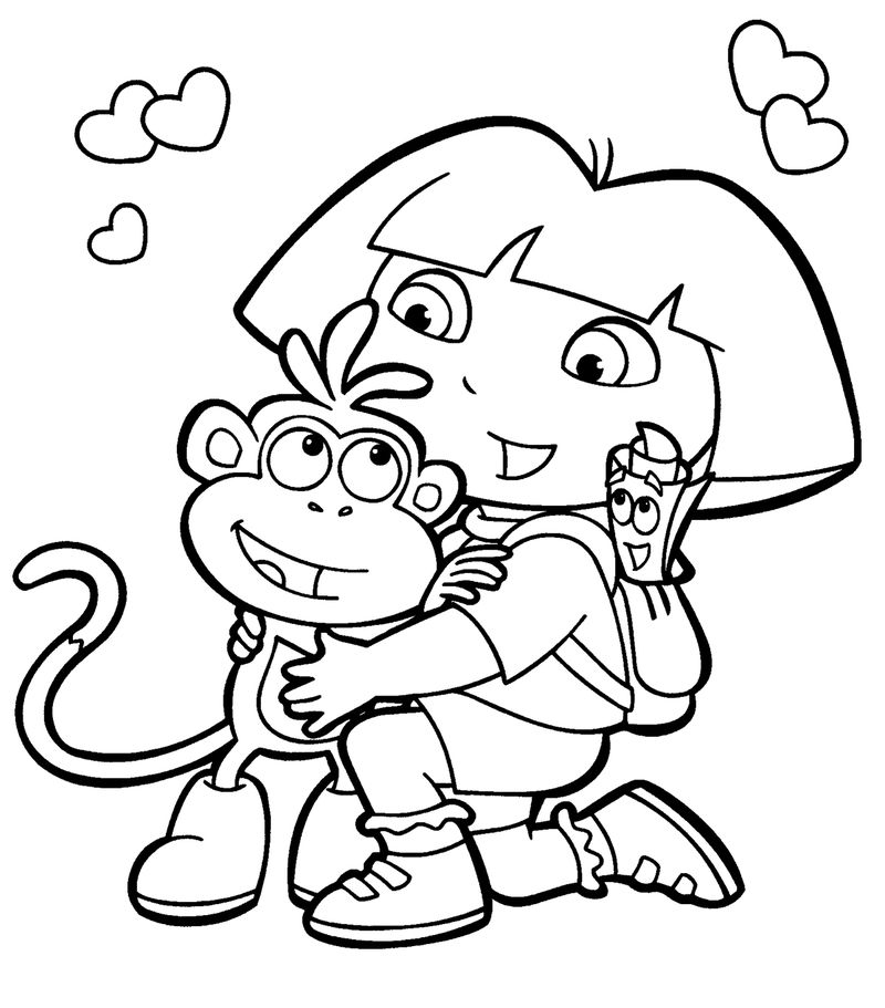 Diego Dora Coloring Pages Online
