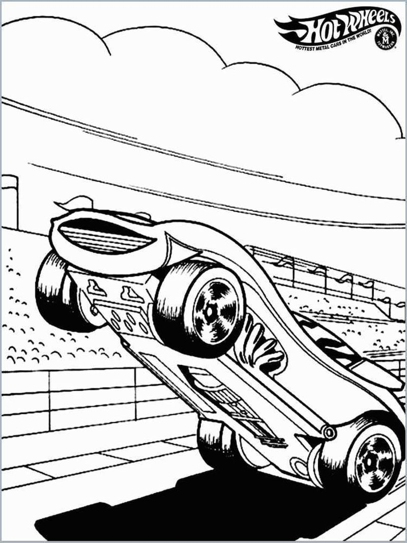 Different Hot Wheels Coloring Pages