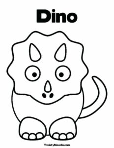 Dinosaur Christmas Coloring Pages
