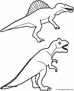 Dinosaur Coloring Pages Children