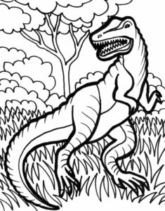 Dinosaur Coloring Pages Print