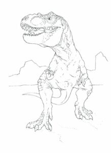 Dinosaur Free Coloring Pages