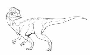 Dinosaur Habitat Coloring Pages