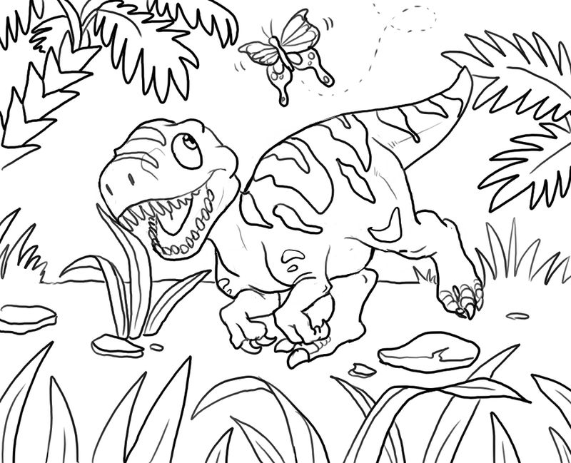 Dinosaur Kids Coloring Pages
