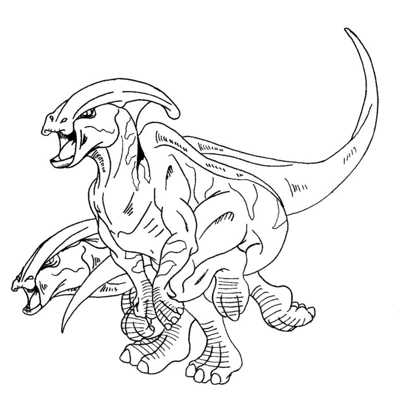 Dinosaur Outlines Coloring Pages