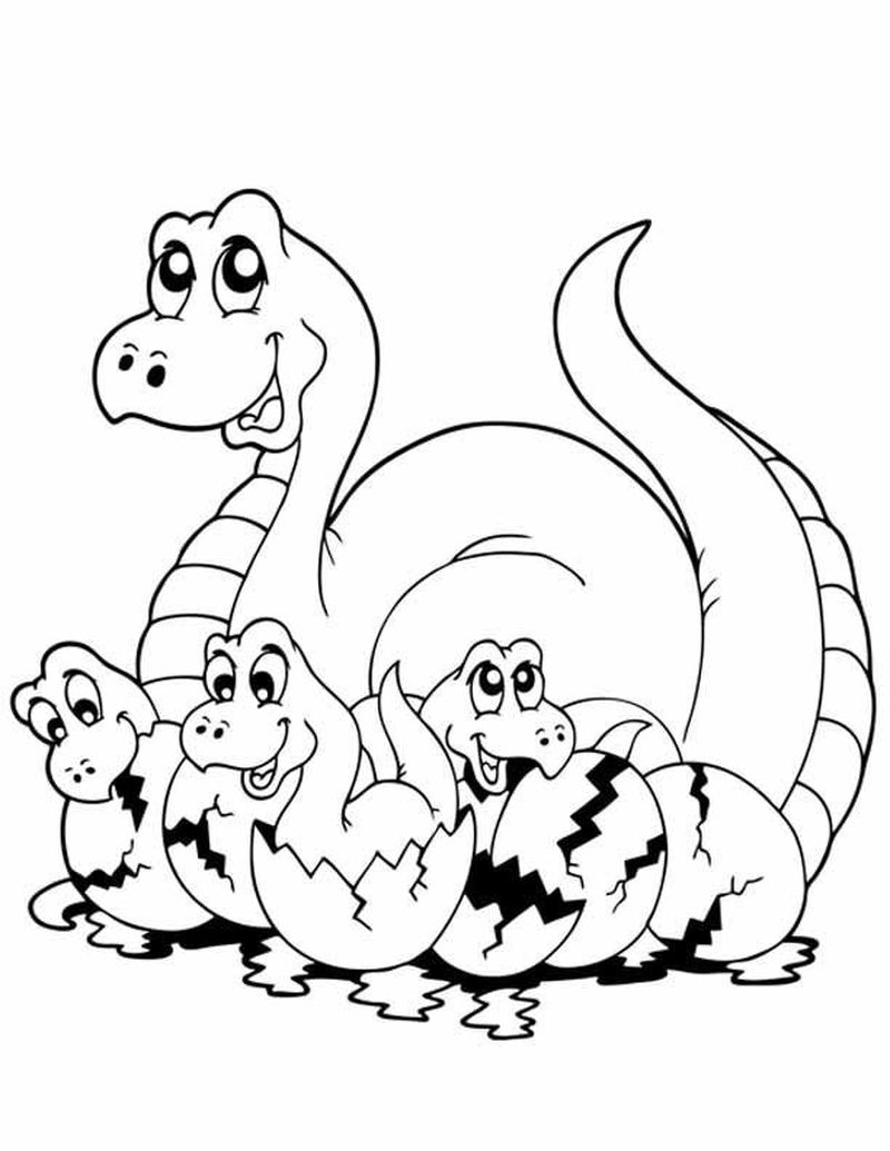 Dinosaur Pictures Coloring Pages