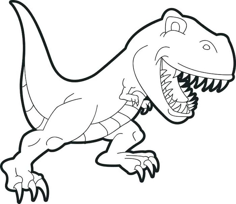 Dinosaur Scene Coloring Pages