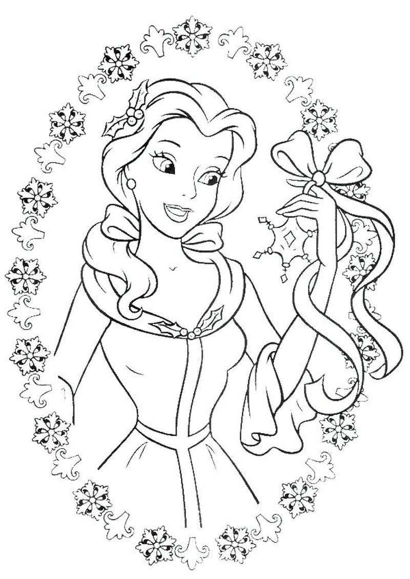 Disney Belle Coloring Pages Free