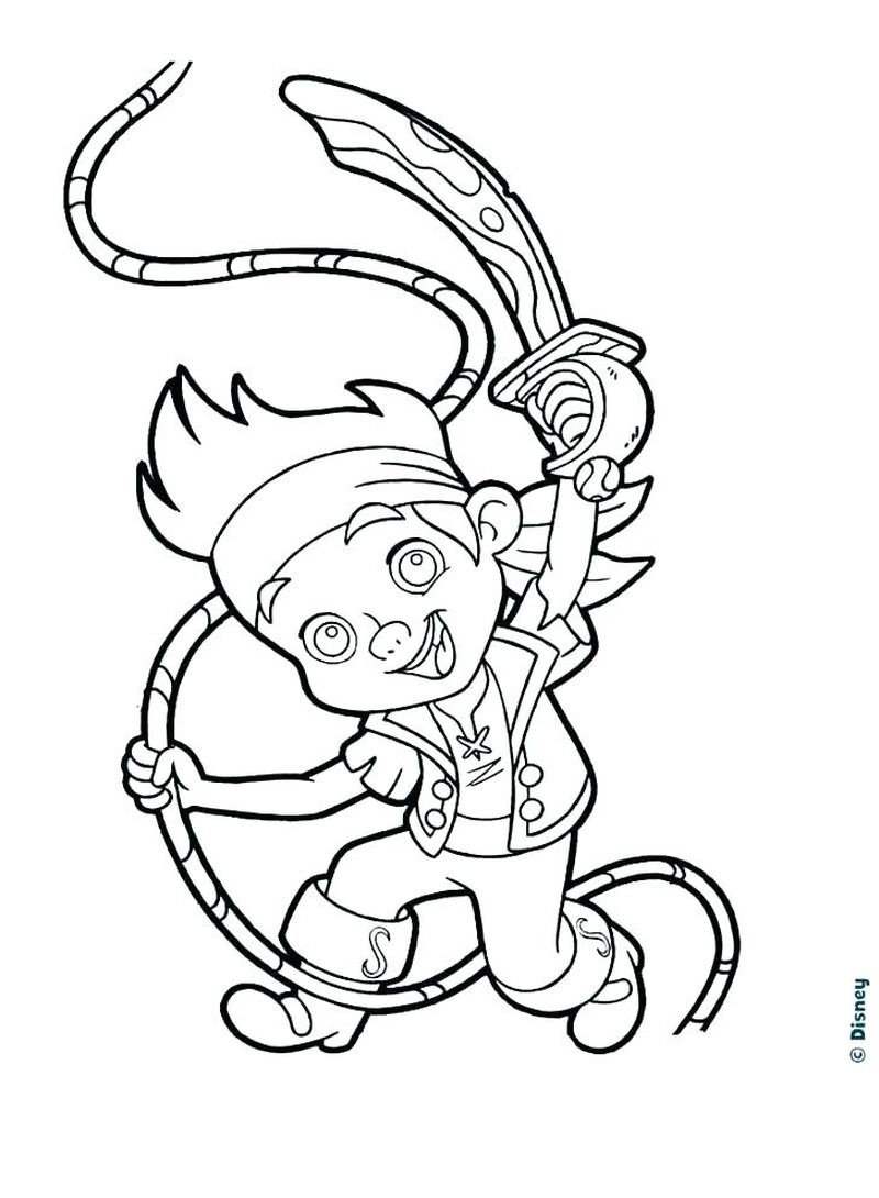 Disney Pirate Coloring Pages