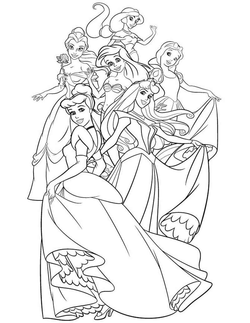 Disney Princess Coloring Pages Beauty And The Beast