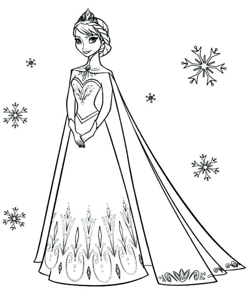 Disney Princess Coloring Pages By Number