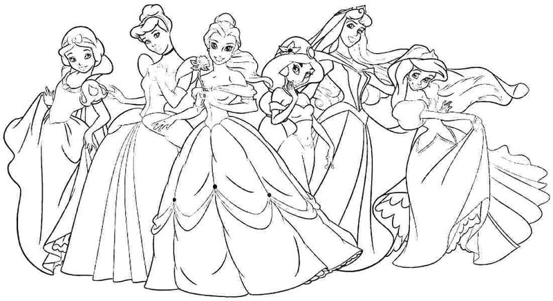 Disney Princess Coloring Pages For Adults 1