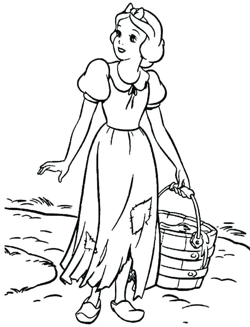 Disneys Snow White Coloring Pages