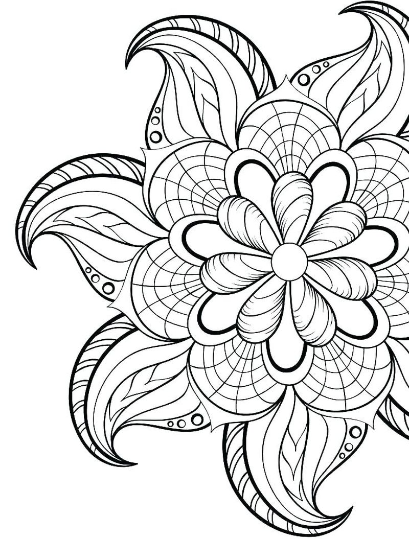 Dltk Coloring Pages Flowers