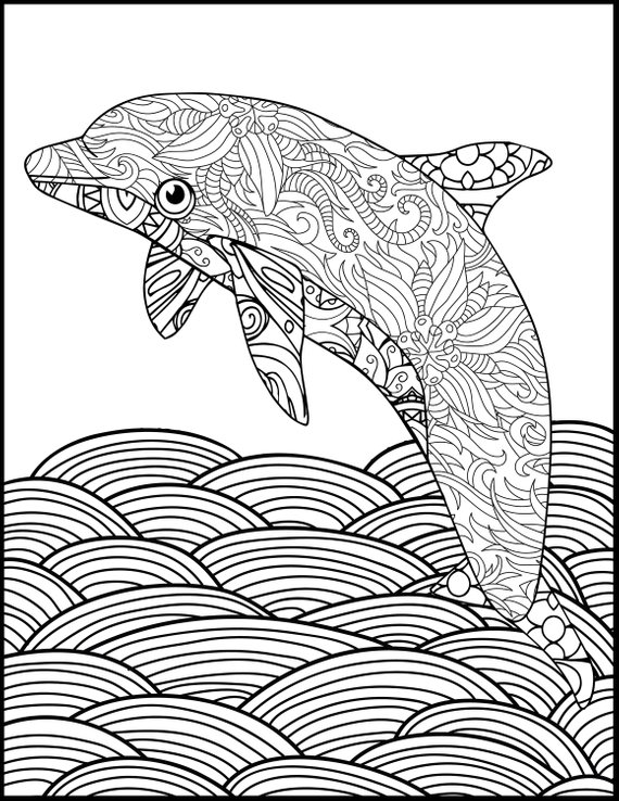 Dolphin Coloring Pages Free