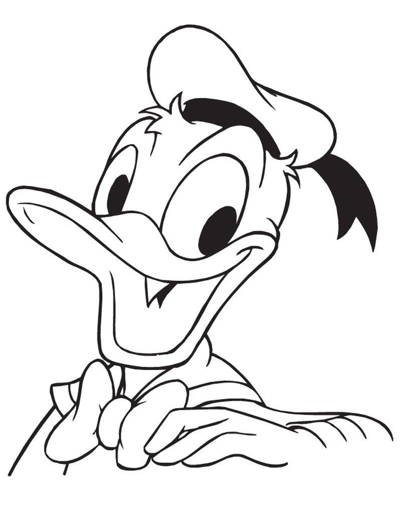 Donald Duck Colouring Pages To Print
