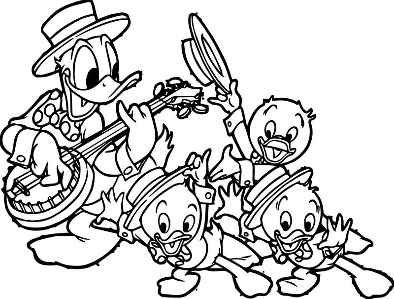 Donald Duck Head Coloring Pages