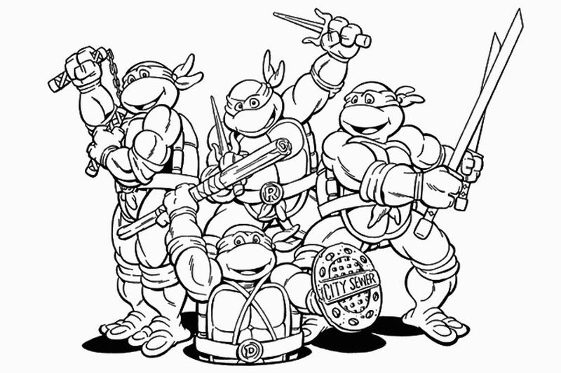 Donnie Ninja Turtle Coloring Page