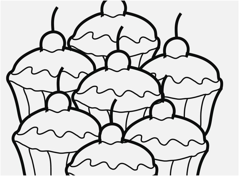 Donut Cupcake Icecream Macaroon Coloring Pages