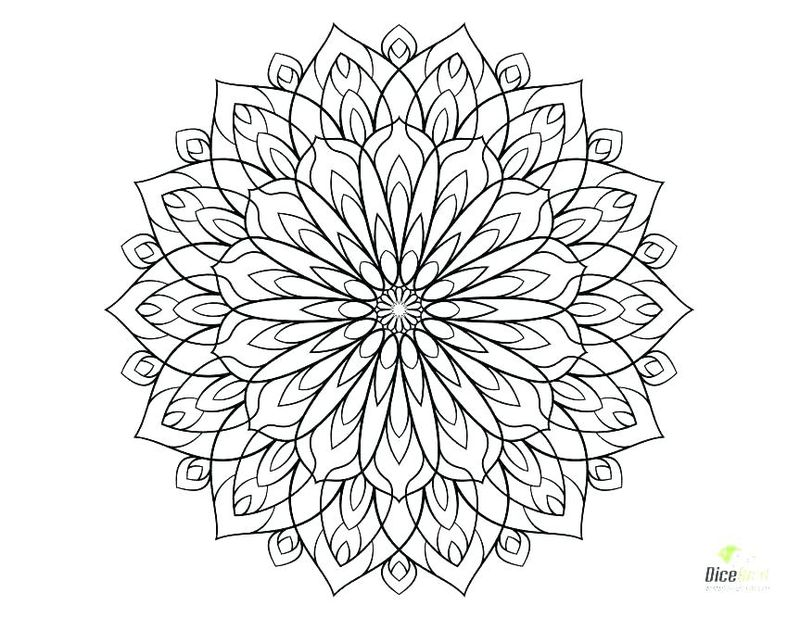 Doodle Flowers Coloring Pages