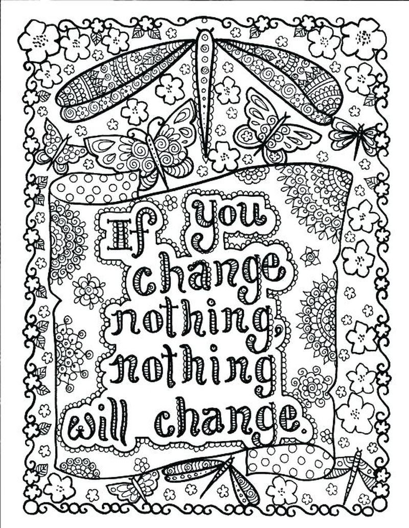 Doodle Quote Coloring Pages