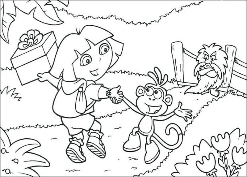 Dora Boots Coloring Pages