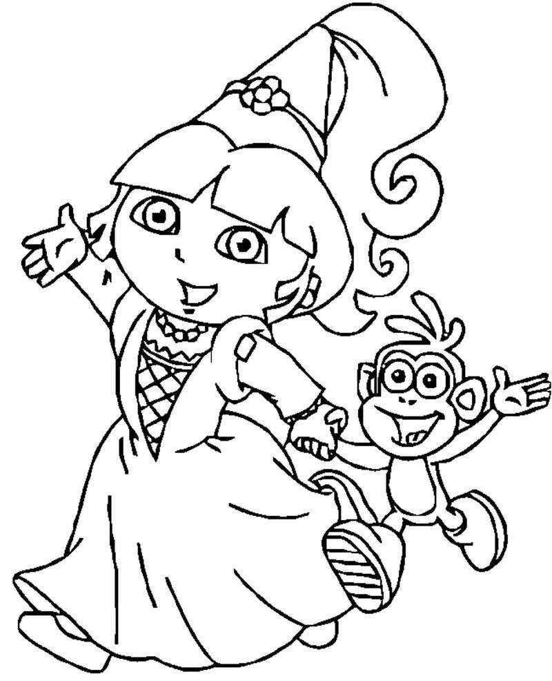 Dora Coloring In Pages