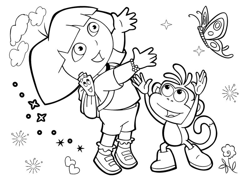 Dora Coloring Pages Printable Free