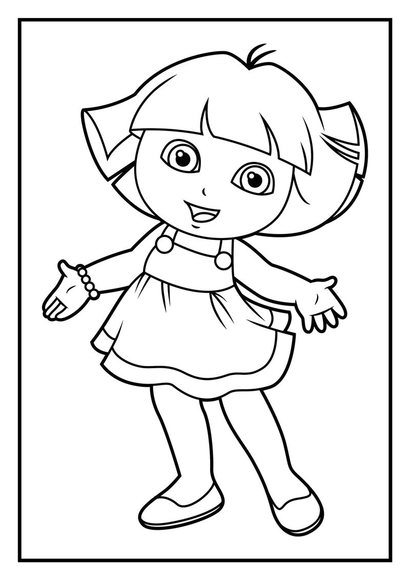 Dora Coloring Pages Printables
