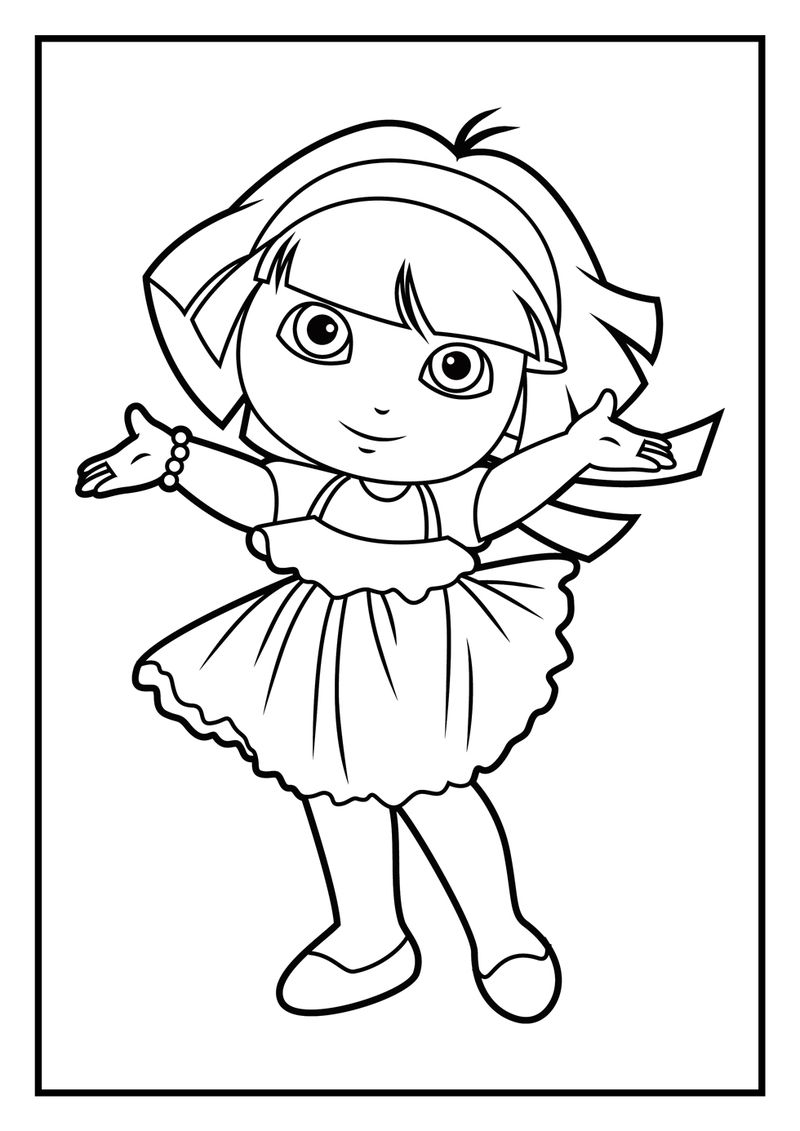 Dora Games Coloring Pages