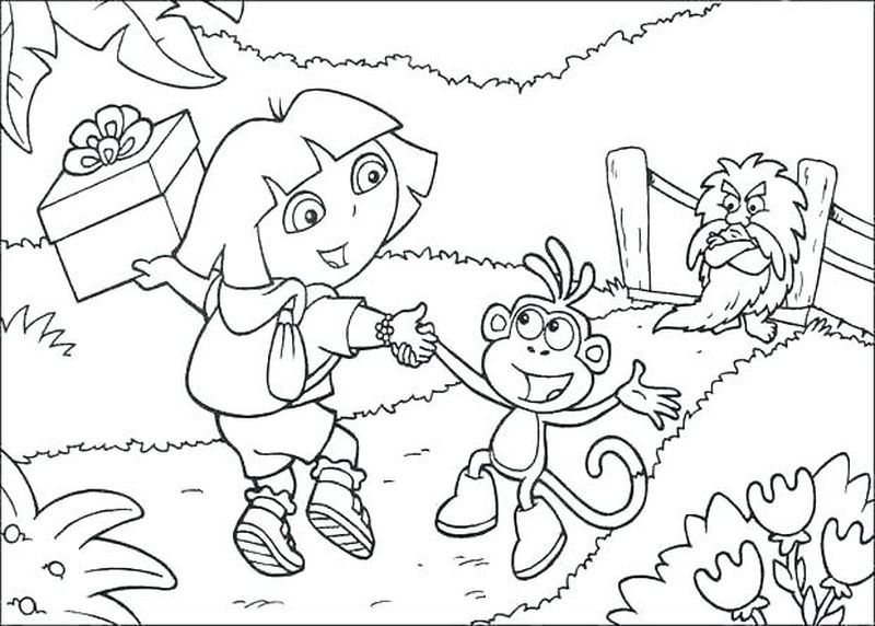 Dora Print And Coloring Pages