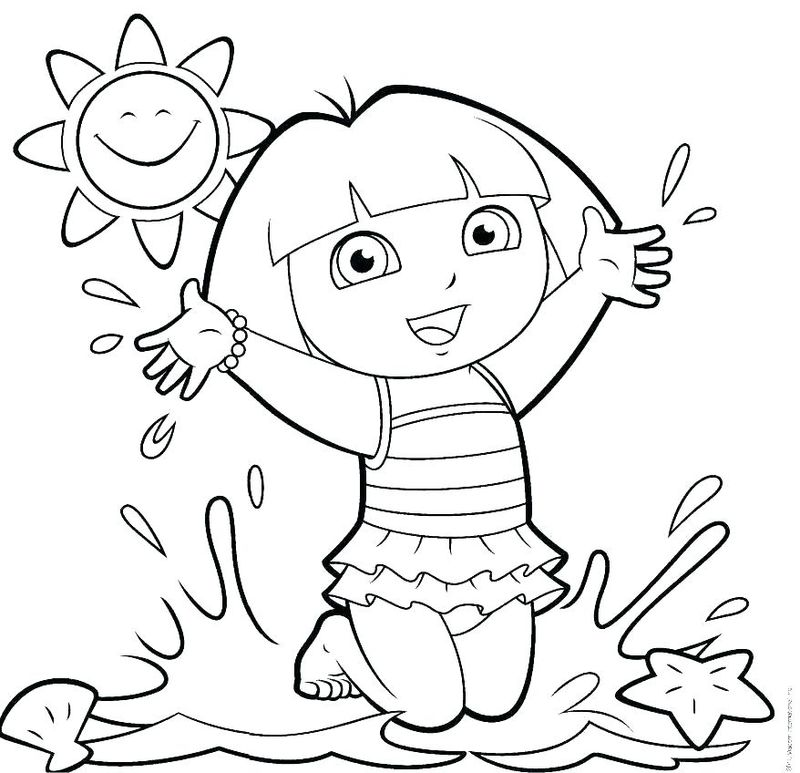 Dora The Coloring Pages